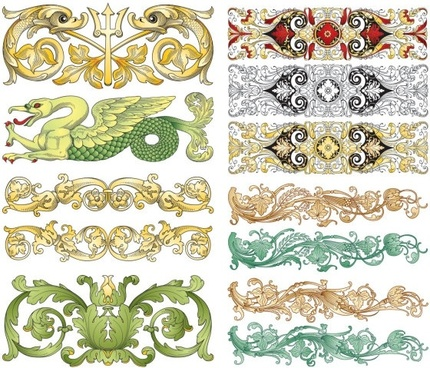 chinese classical pattern vector pattern