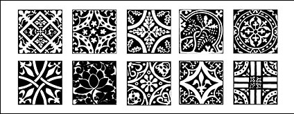chinese classical pattern vector pattern tile