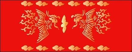 chinese classical pattern vector phoenix abstract