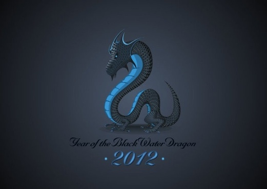 chinese dragon background 01 vector