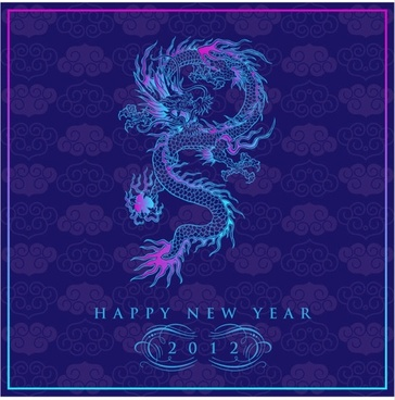 chinese dragon background 03 vector