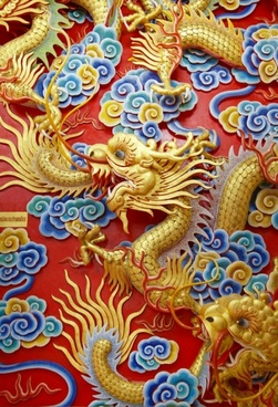 chinese dragon sculpture 01 hd pictures