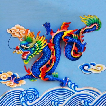 chinese dragon sculpture 03 hd pictures