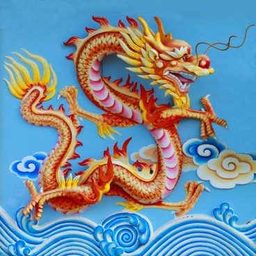 chinese dragon sculpture 04 hd pictures