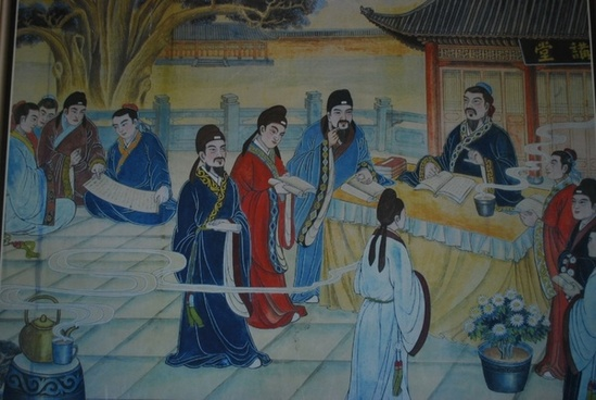 chinese mural painting