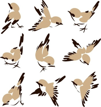 chinese painting bird 01 vector
