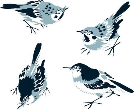 chinese painting bird 02 vector