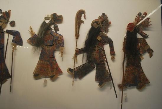 chinese stick puppets