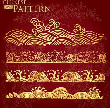 chinese style floral pattern vector graphic