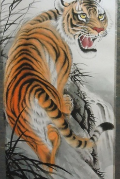 chinese style tiger art
