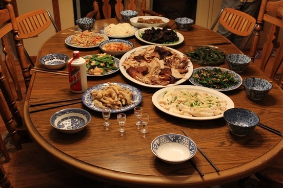 chinese thanksgiving feast