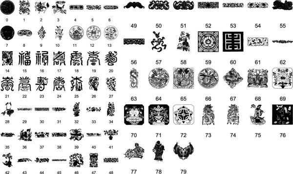 chinese traditional pattern vector daquan 9
