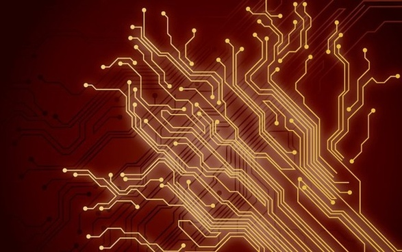 abstract brown background technology style digital connection decoration