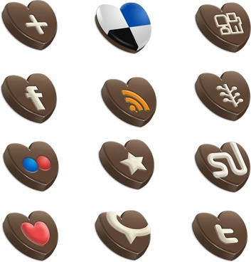 Choco Sosial icons icons pack
