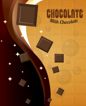chocolate advertising banner shiny sparkling brown decor