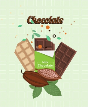 chocolate advertising modern colored design