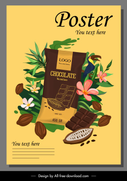 chocolate advertising poster colorful elegant classical decor