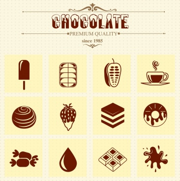 chocolate advertising vintage decor symbols design elements