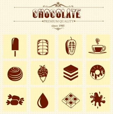 chocolate advertising vintage decor symbols design elements