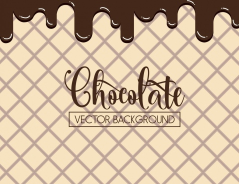 chocolate cake background melting decoration calligraphic design