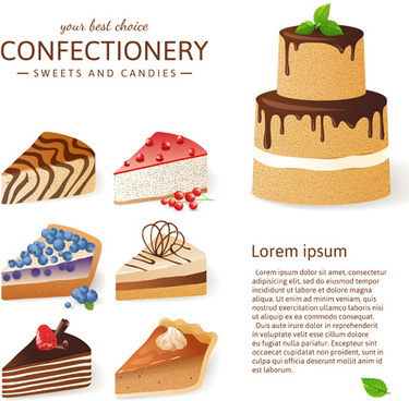 chocolate cake background vector graphics