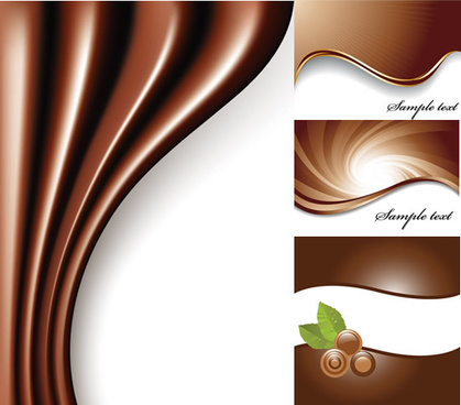 chocolate coffee color background vector graphic