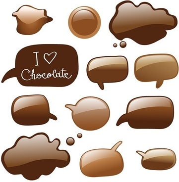 chocolate dialogue bubbles vector