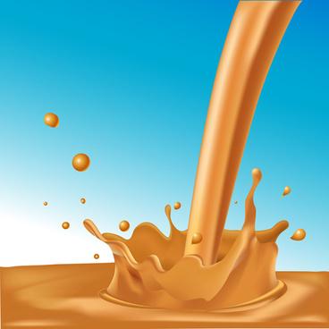 chocolate milk splashes vector design
