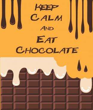 chocolate promotion poster melting liquid decoration