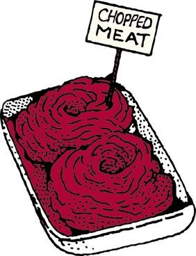 Chopped Meat clip art