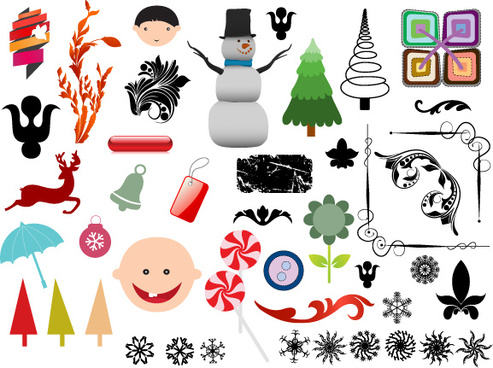christmas adornment vector design