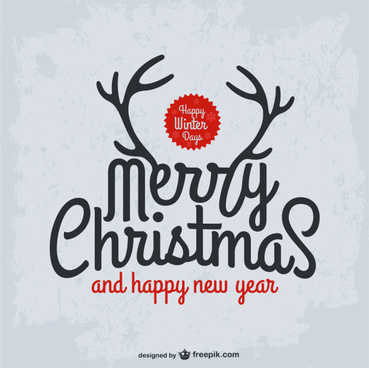 christmas and new year calligraphy background vector