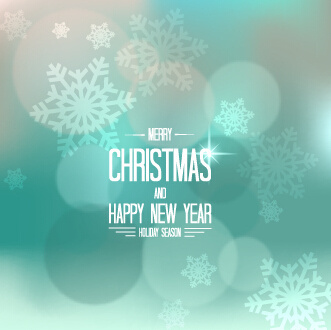 christmas and new year snowflake blurs background