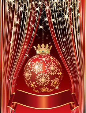 christmas background elegant luxury twinkling bauble crown decor