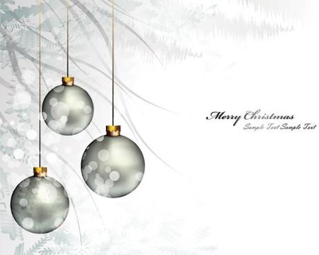 christmas background ball beautiful 01 vector