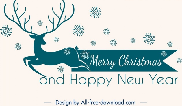 christmas background classical design reindeer snowflakes icons