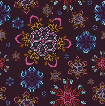 christmas background design colorful snowflakes pattern decoration