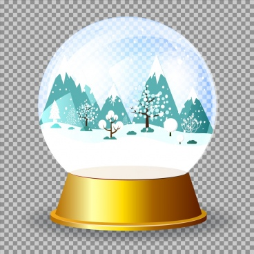 christmas background glass sphere object 3d design