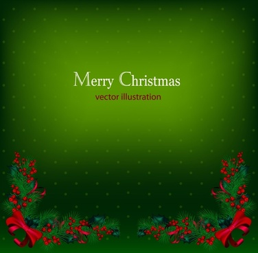 christmas background of red berries vector