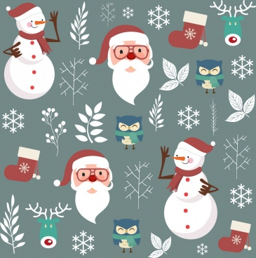 christmas background repeating traditional design elements