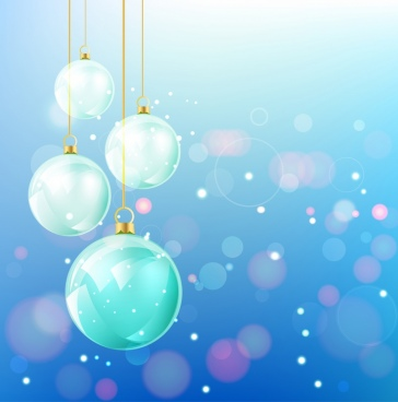 christmas background shiny colorful sparkling baubles bokeh design