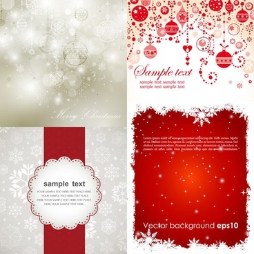 christmas background templates elegant bright bokeh red decor