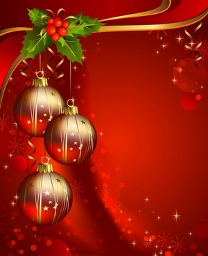 christmas background colorful shiny modern baubles decor