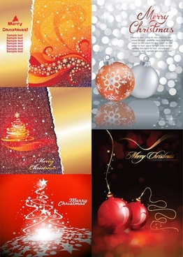 christmas background templates elegant shiny symbols decor