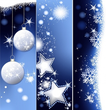 xmas background bright twinkling baubles snowflakes decor