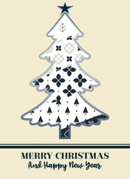 christmas background white fir tree icon flat design