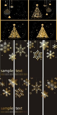 christmas background with snowflakes ornaments vector