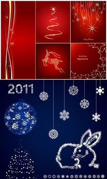christmas background templates shiny sparkling red blue decor