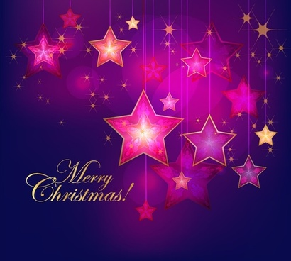 christmas background with stars vector illustration