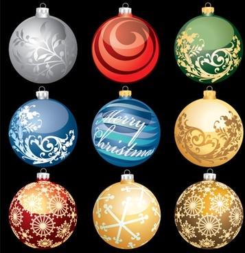 christmas ball 02 vector